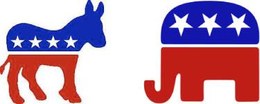Dem & GOP logos