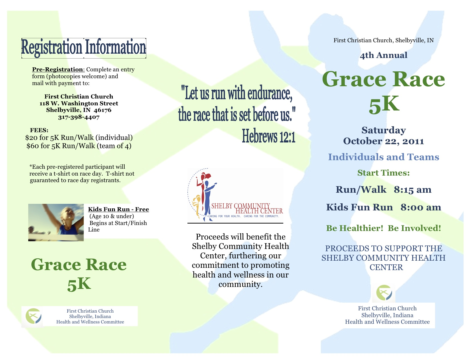 2011 Grace Race Brochure pg. 1