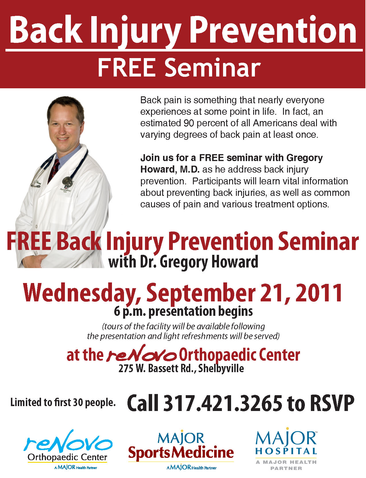 Back Injury Prevention Flyer