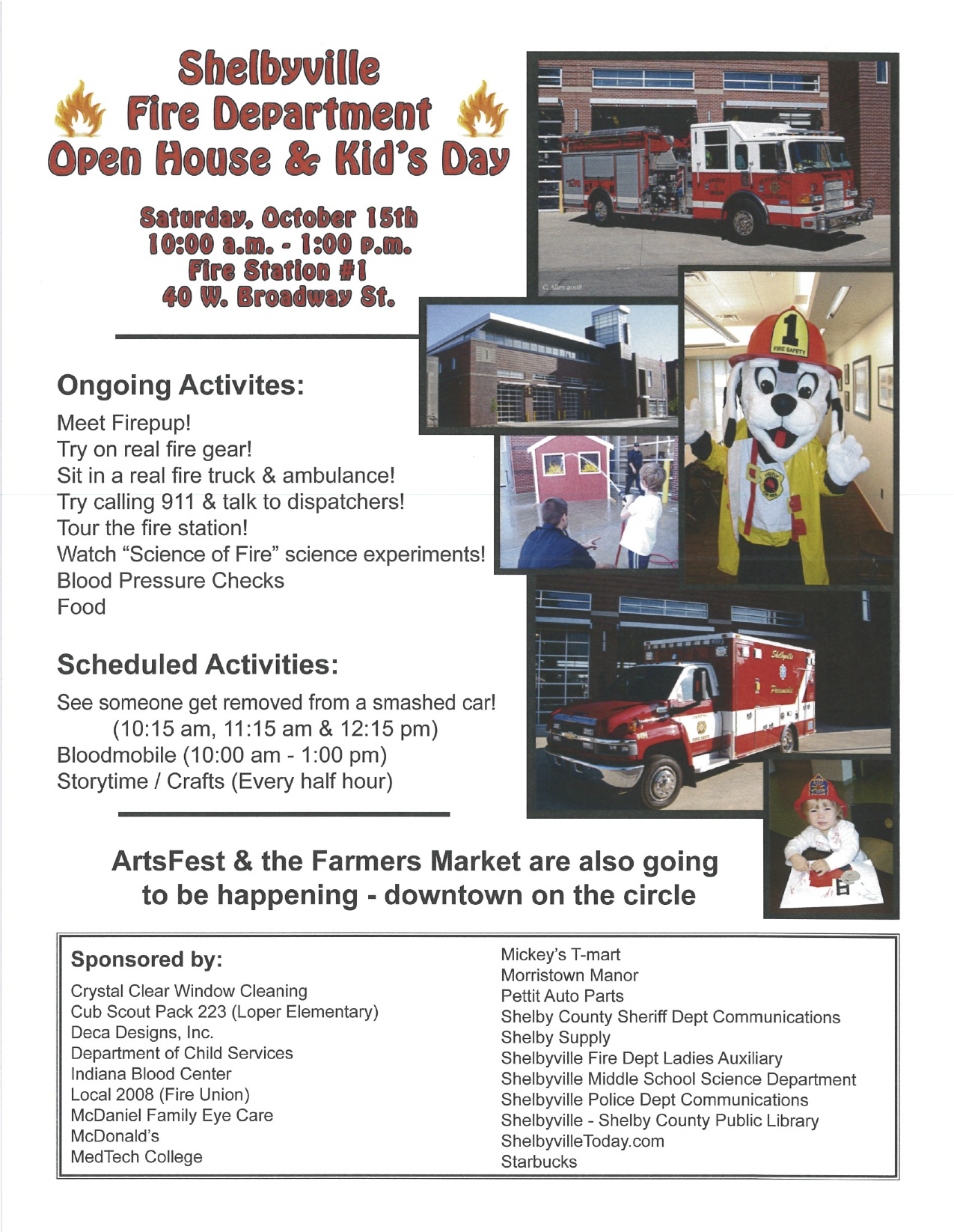 SFD OPEN HOUSE AND KIDS DAY Flier