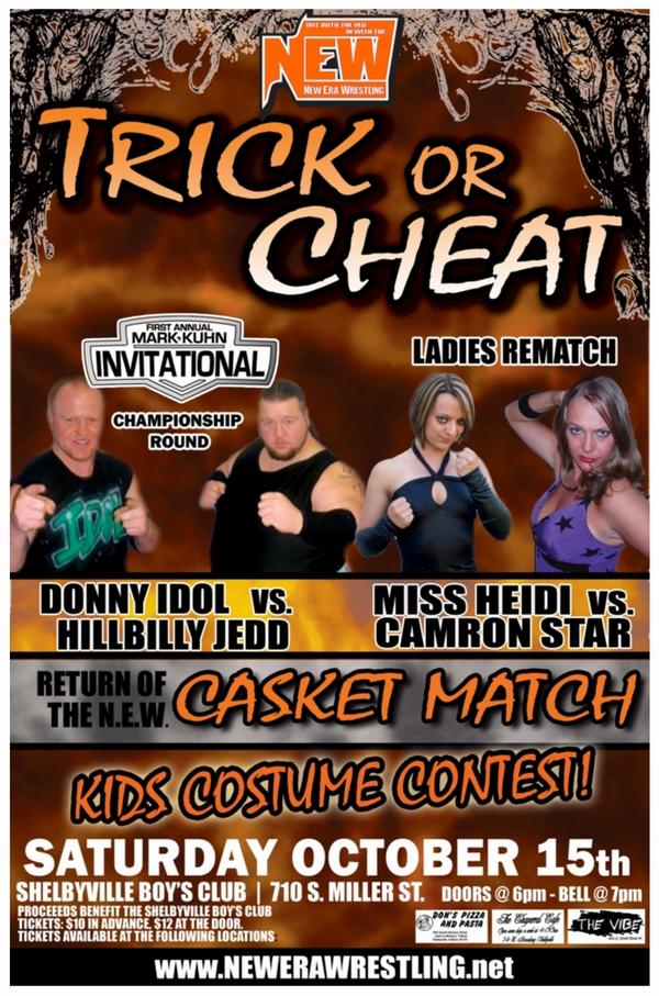New Era Wrestling October 2011 Match Flier