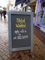 Stylist Wanted Sign