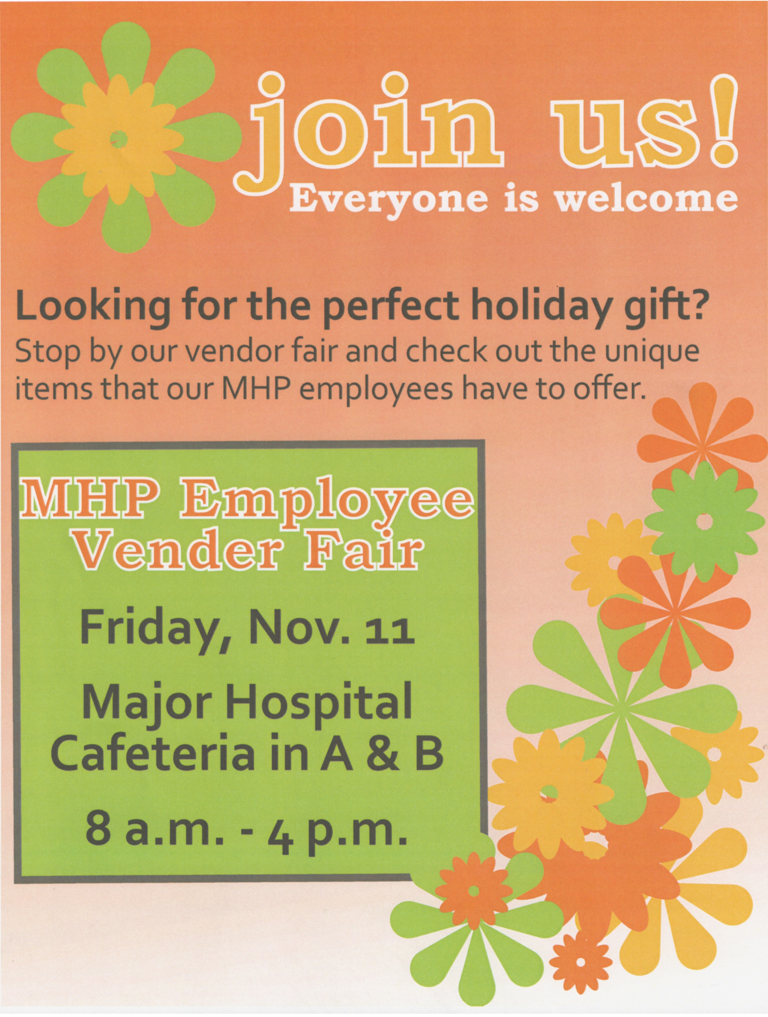 MHP Vendor Fair Flier