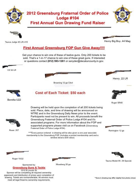 FOP Gun GIveaway flier