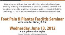 Foot Pain & Plantar Fasciitis Seminar
