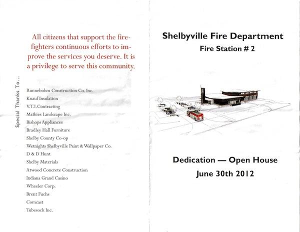 Fire Station #2 Dedication/Open House flier p1