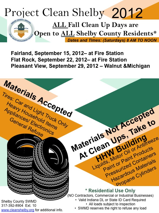 Project Clean Shelby 2012 Flier