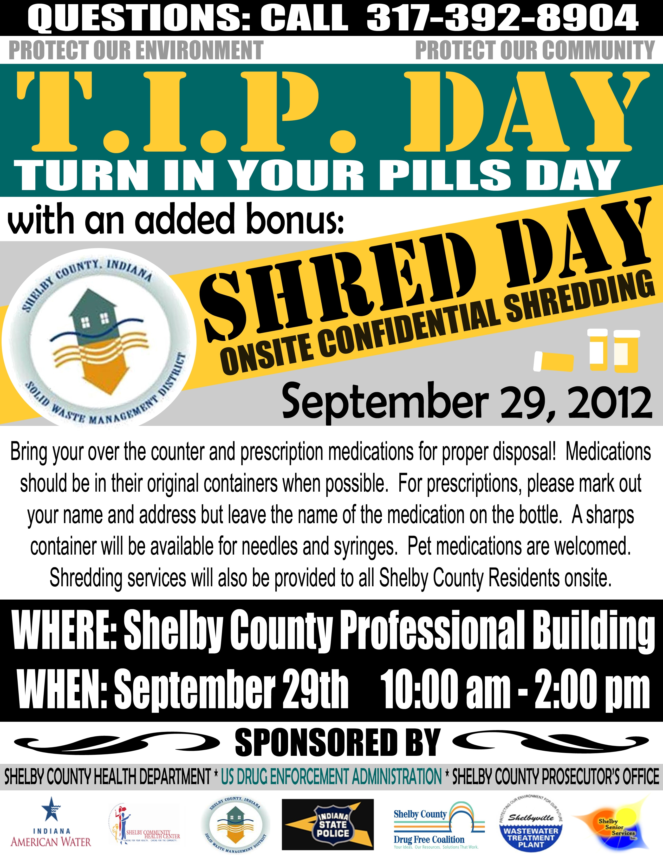 TIP DAY (TURN IN PILLS)2012-Sept 29th