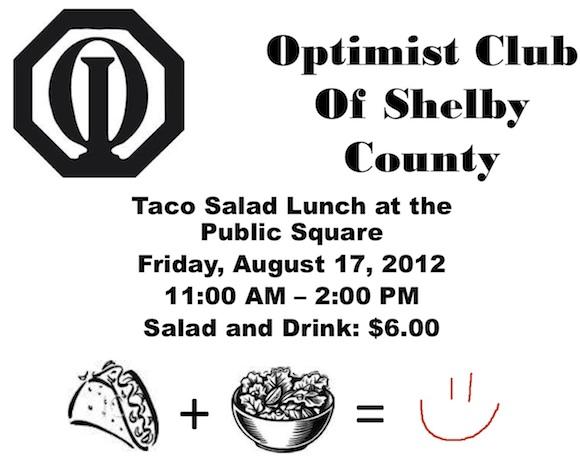 Optimist Club Taco Salad Flyer