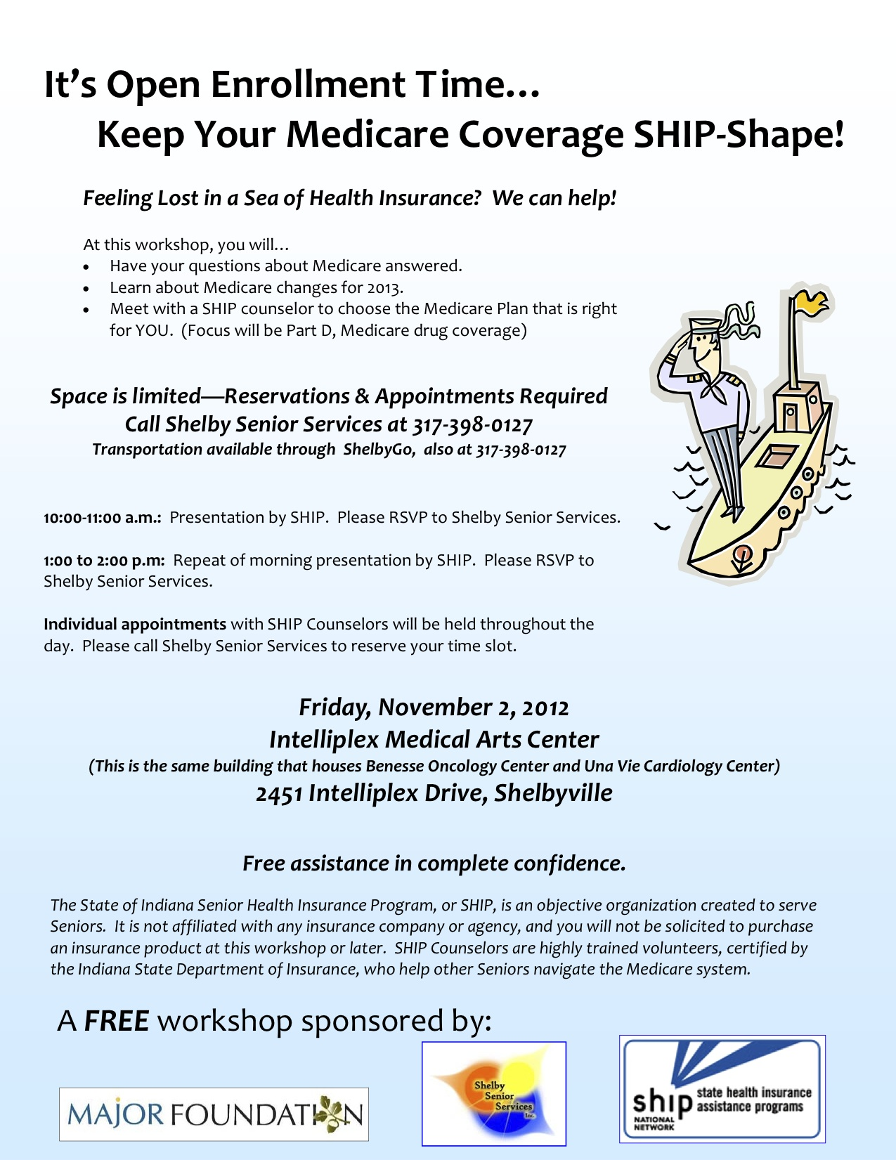 Medicare Open Enrollment Workshop Brochure