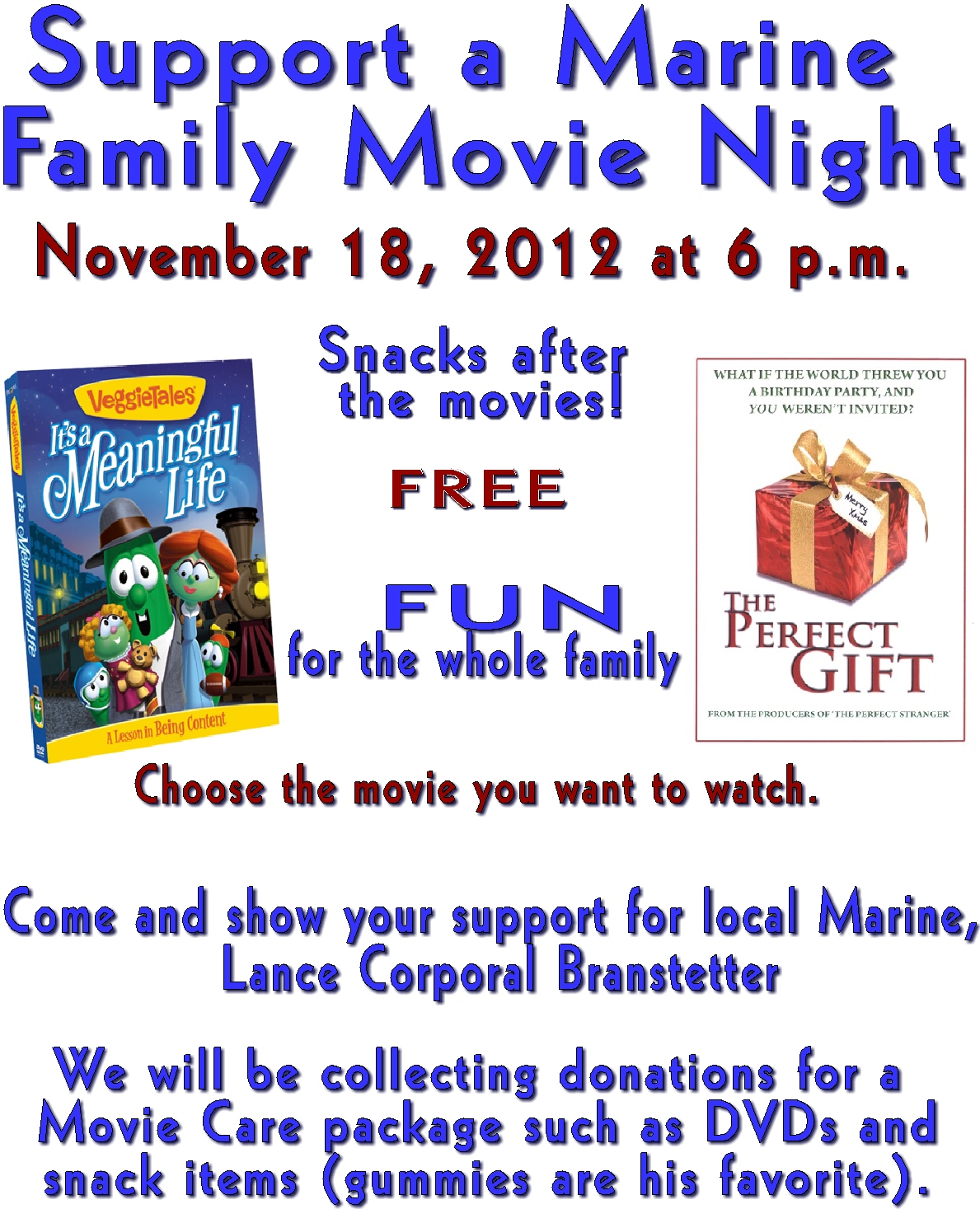 Family movie night Oct 2012 flyer