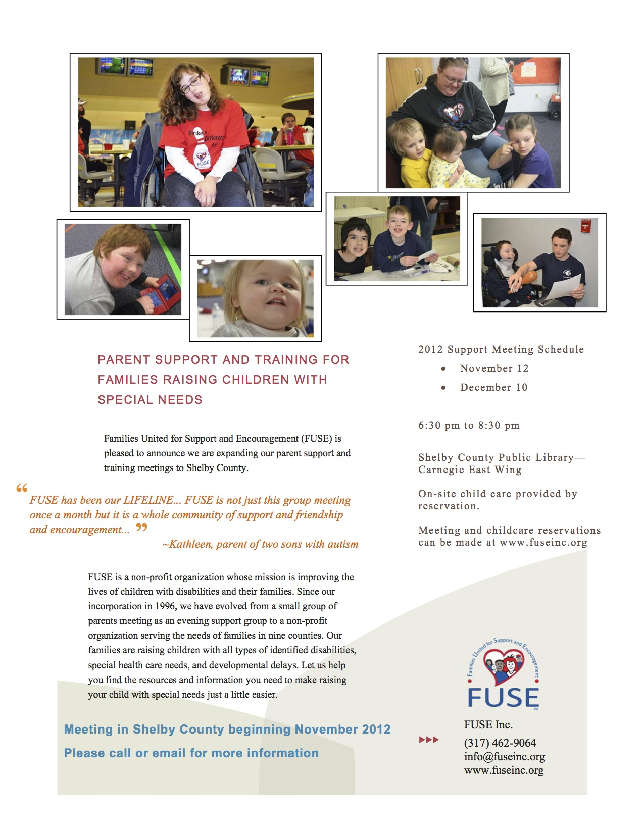 FUSE Shelby County Parent Meeting Flyer