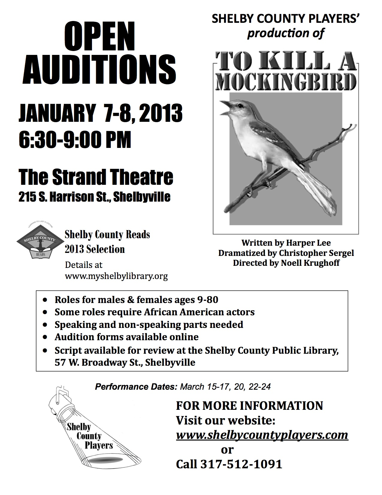 To Kill a Mockingbird Audition Flyer