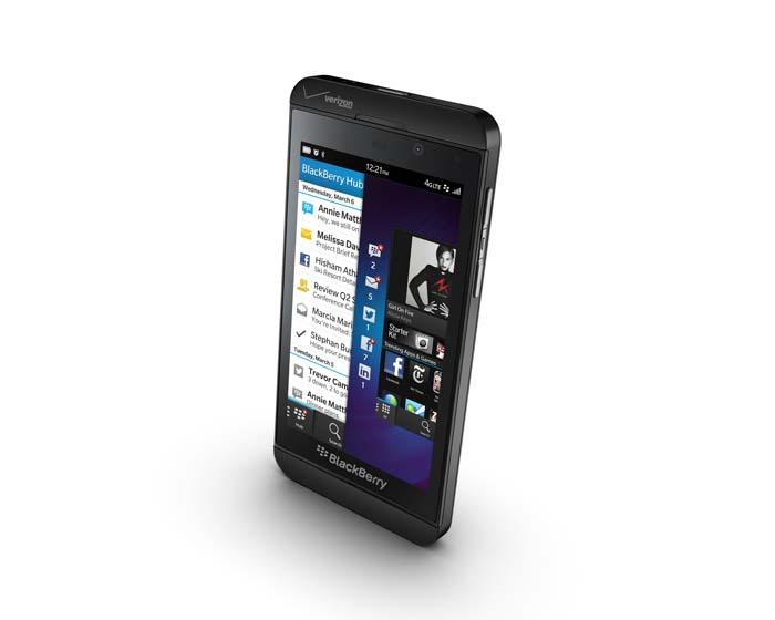 BlackBerry Z10 3/4 view