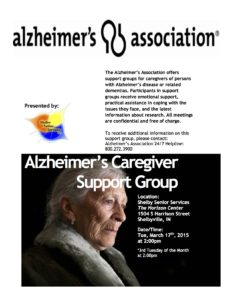 Alzheimer's Caregiver Support Group @ The Horizon Center | Shelbyville | Indiana | United States