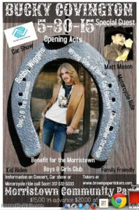 Bucky Covington @ Morristown Community Park | Morristown | Indiana | United States