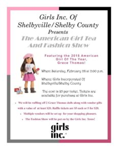 The American Girl Tea And Fashion Show With Girls Inc. @ Girls Inc. - Barbara J. Anderson Center