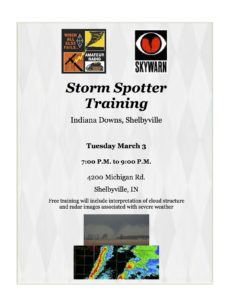Shelby County Storm Spotter Weather Training @ Indiana Grand Racing & Casino