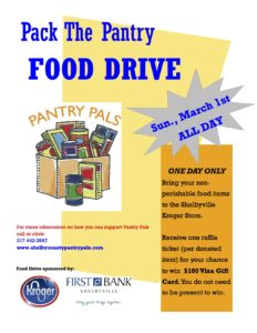 Pack the Pantry Food Drive @ Kroger | Shelbyville | Indiana | United States