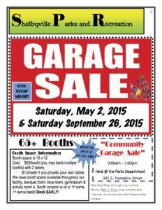 Parks Dept. Community Garage Sale @ Shelbyville Parks Department