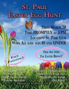 St. Paul Easter Egg Hunt @ St. Paul Gym