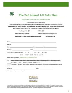 4-H Color Run @ Shelby County Fairgrounds