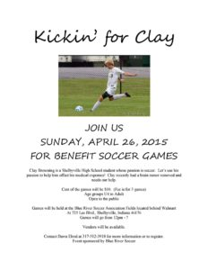 Kickin' for Clay @ Blue River Soccer Association Fields | Shelbyville | Indiana | United States