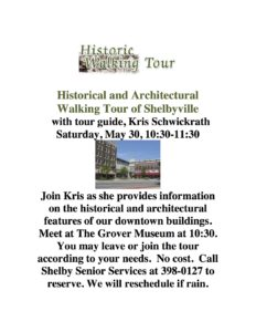 Historical and Architectural Walking Tour of Shelbyville @ The Grover Museum