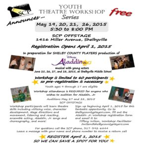 Youth Theatre Workshop Series @ Shelby County Players Offstage | Shelbyville | Indiana | United States