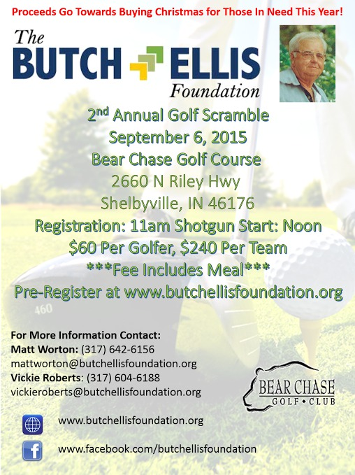 The Butch Ellis Foundation 2nd Annual Golf Scramble @ Bear Chase Golf Club