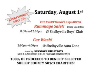 Raise It Up - Rummage Sale @ Shelbyville Boys & Girls Club
