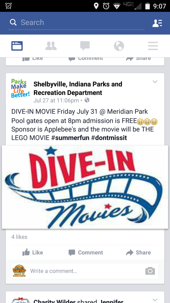 Dive in Movie @ Meridian Park Family Aquatic Center