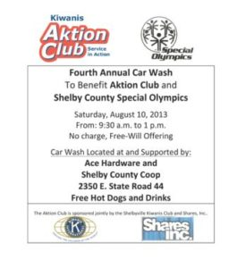 Aktion Club Car Wash @ Ace Hardware Shelby County Co-op | Shelbyville | Indiana | United States