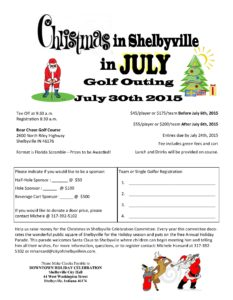 Christmas in Shelbyville in July Golf Outing @ Bear Chase Golf Club