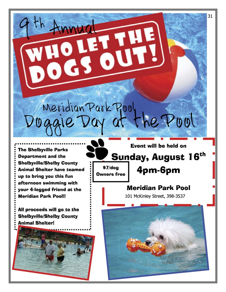 Doggie Day at the Pool Flyer