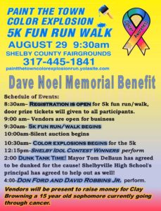 Paint the Town Color Explosion 5k Fun Run/Walk @ Shelby County Fairgrounds | Shelbyville | Indiana | United States