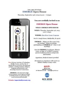 EMERGE Open House @ Blue River Career Programs | Shelbyville | Indiana | United States