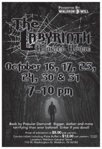 Labyrinth Haunted House @ Waldron General Store | Waldron | Indiana | United States