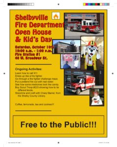 Fire Department Open House @ Shelbyville Fire Department HQ