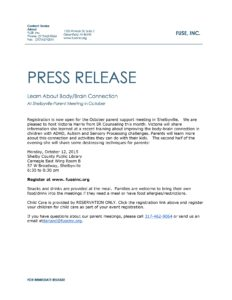 FUSE October Press Release @ Shelby County Public Library Carnegie East Wing