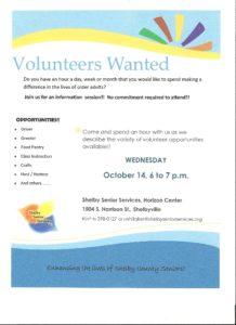 Volunteer Orientation @ Horizon Center