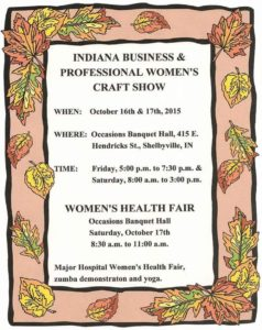 Indiana Business and Professional Women's Craft Show @ Occasions Banquet Hall and Catering