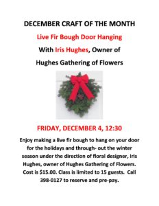 Fir Bough Craft @ The Horizon Center - Shelby Senior Services