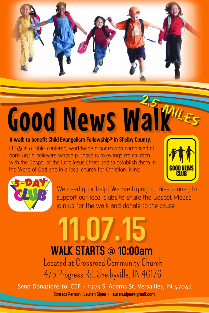 Good News Walk Flyer