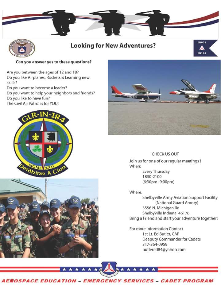 Civil Air Patrol Meeting Flyer