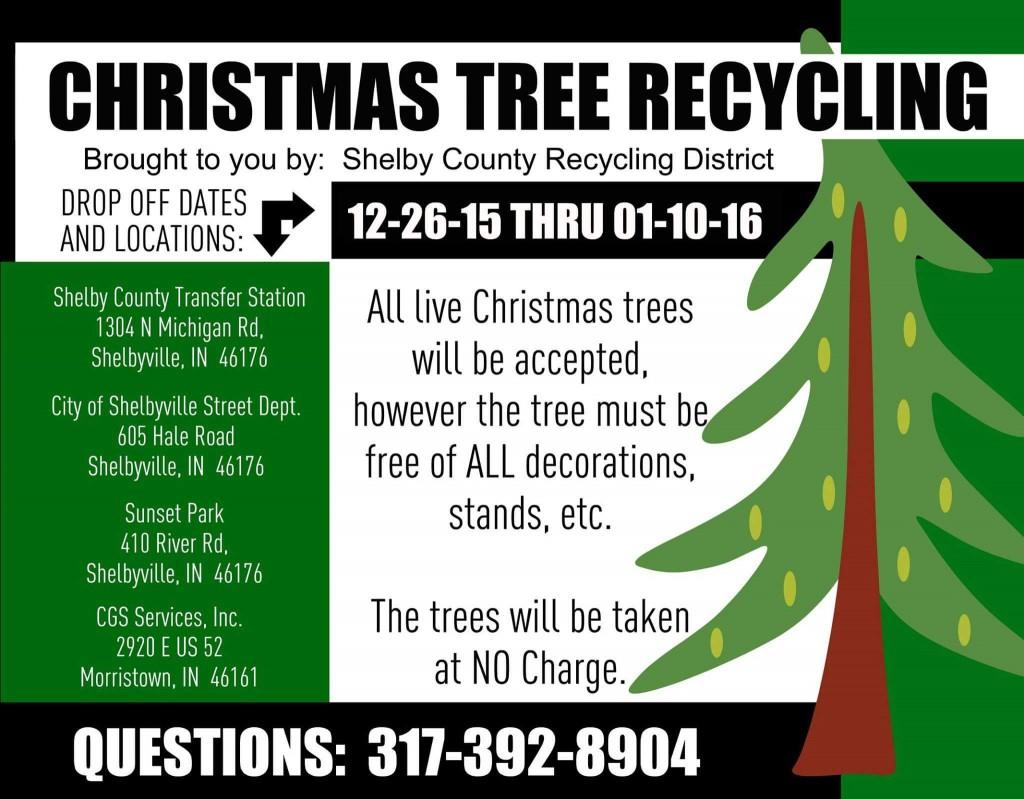 Christmas Tree Recycling Flyer