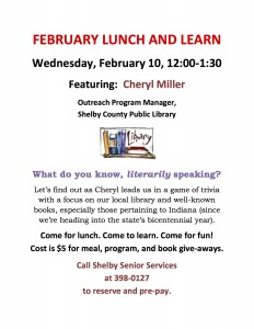 Lunch & Learn with Cheryl @  |  |