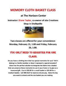 Memory Cloth Basket Class @ Horizon Center